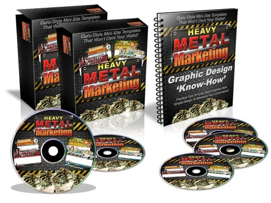 Product picture Heavy Metal Marketing - Guru-Style Mini Site Templates w MRR