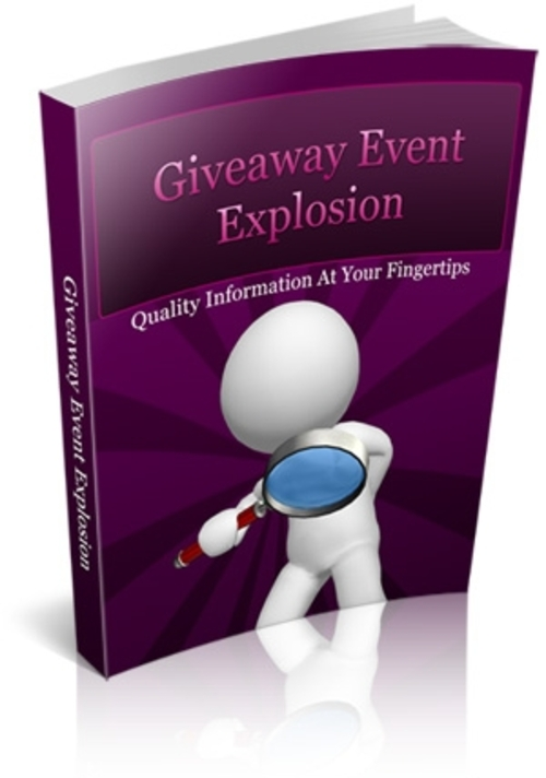 Product picture Giveaway Event Explosion with Unlimited PLR & MRR