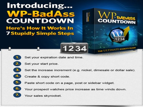 Product picture WP BadAss Countdown Wordpress Plugin with RR