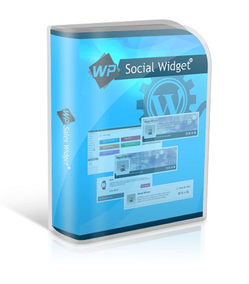 Product picture WP Social Media Widget : Wordpress Plugin with PLR