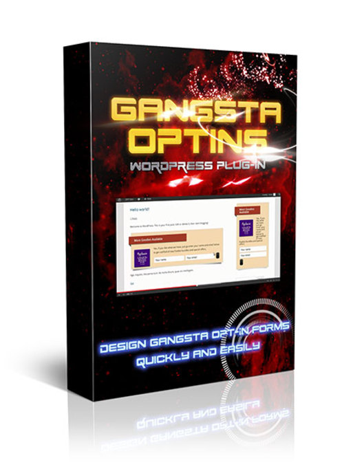 Product picture Gangsta Optins Wordpress Plugin with Master Resale Rights