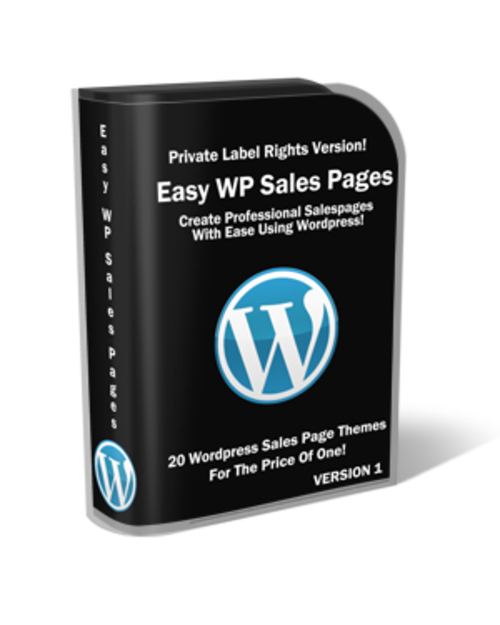 Product picture Easy Wordpress Sales Pages w Bonus Themes, Buttons - PLR